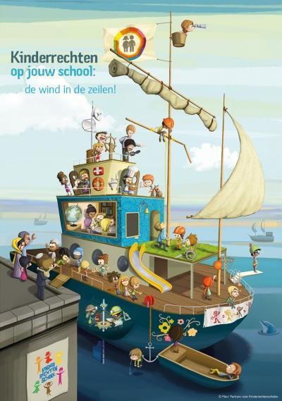 illustratie kinderrechtenschool web nl 0 - Vluchtelingenproblematiek met kinderen bespreken